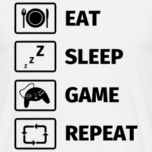 Eat Sleep Game Repeat T-Shirts - Männer T-Shirt