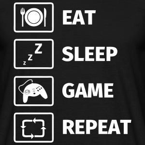 Eat Sleep Game Repeat T-shirts - T-shirt herr