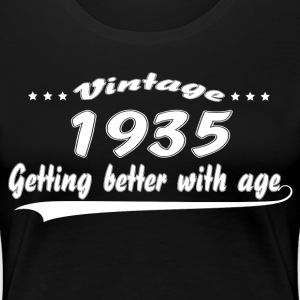 Vintage 1935 Getting Better With Age T-Shirts - Women's Premium T-Shirt