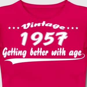 Vintage 1957 Getting Better With Age T-Shirts - Women's T-Shirt