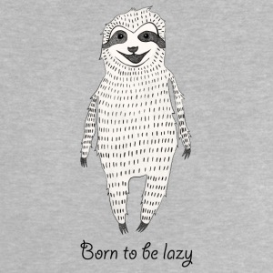 Heather grey Born to be lazy Baby Shirts  - Baby T-Shirt