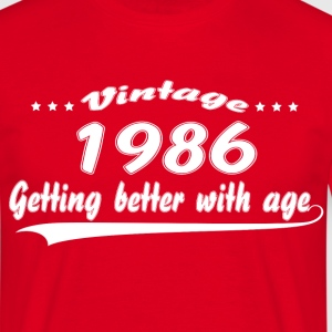 Vintage 1986 Getting Better With Age T-Shirts - Men's T-Shirt