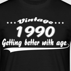 Vintage 1990 Getting Better With Age T-Shirts - Men's T-Shirt