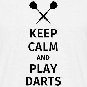 Keep Calm and Play Darts T-Shirts - Männer T-Shirt