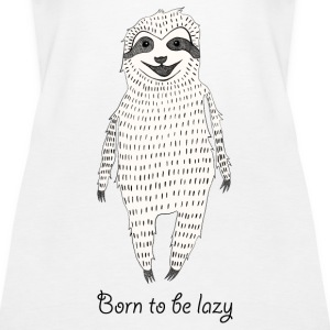 White Born to be lazy Tops - Women's Premium Tank Top