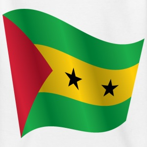 Waving Flag of Sao Tome and Principe - Kids' T-Shirt