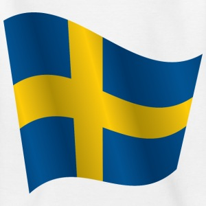 Waving Flag of Sweden - Kids' T-Shirt