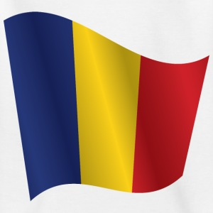 Waving Flag of Romania - Kids' T-Shirt
