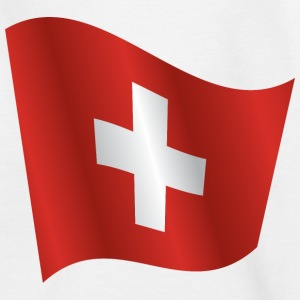 Waving Flag of Switzerland - Kids' T-Shirt