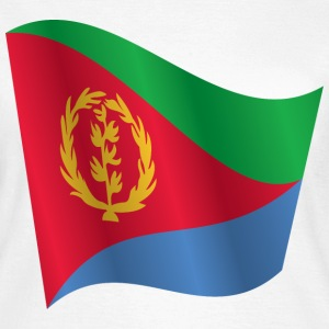 Waving Flag of Eritrea - Women's T-Shirt