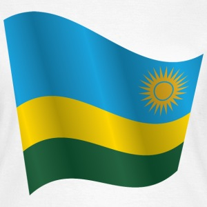 Waving Flag of Rwanda - Women's T-Shirt