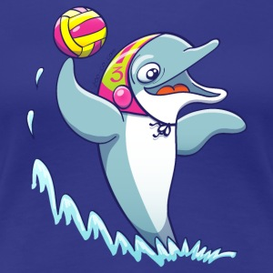 Dolphin Playing Water Polo T-Shirts - Women's Premium T-Shirt