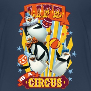 Madagascar penguins Life is a circus Teenager T-Sh - Teenage Premium T-Shirt