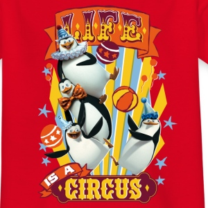 Madagascar penguins Life is a circus Teenager T-Sh - Teenage T-shirt