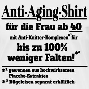 """Geburtstag T-Shirts mit """"Anti Aging Shirt 40 Geburtstag ohne Falten"""""""