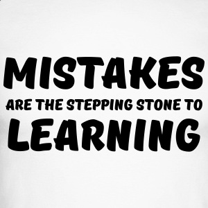 Mistakes are the stepping stone to learning Langarmshirts - Männer Baseballshirt langarm