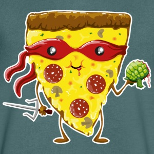 Pacific Ninja Pizza eats turtle T-Shirts - Men's V-Neck T-Shirt