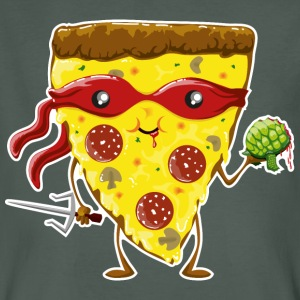 Dark grey Ninja Pizza eats turtle T-Shirts - Men's Organic T-shirt