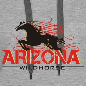 arizonawildhorse-shirt-de Sweat-shirts - Sweat-shirt à capuche Premium pour femmes