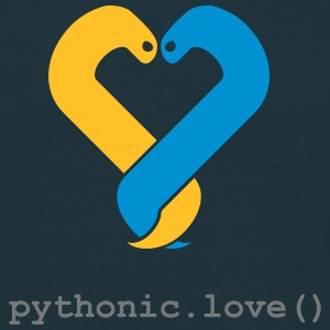 pythonic.love(blue) - Men's T-Shirt