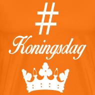 Ontwerp ~ Hashtag Koningsdag oranje herenshirt