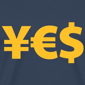 yes yen euro dollar i love money geldgier reichtum - Männer Premium T-Shirt