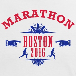 MARATHON Emblem 2016 Boston - Women's Ringer T-Shirt