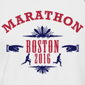 MARATHON Emblem 2016 Boston - Men's Baseball T-Shirt