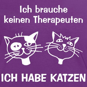 TherapieKatze T-Shirts - Frauen Kontrast-T-Shirt