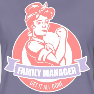 Washed violet family manager T-Shirts - Women's Premium T-Shirt