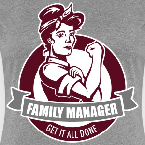Heather grey family manager T-Shirts - Women's Premium T-Shirt