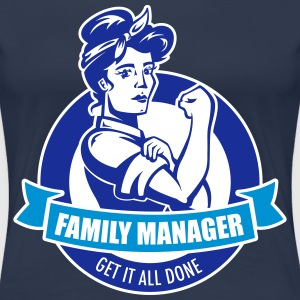 Navy family manager T-Shirts - Women's Premium T-Shirt