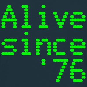 40th birthday - Alive since '76 retro computer  - Men's T-Shirt