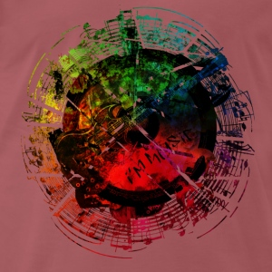 I am Music Grunge Color T-Shirts - Männer Premium T-Shirt