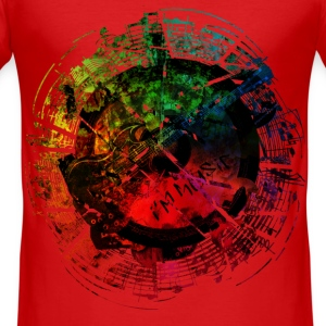 I am Music Grunge Color T-Shirts - Männer Slim Fit T-Shirt