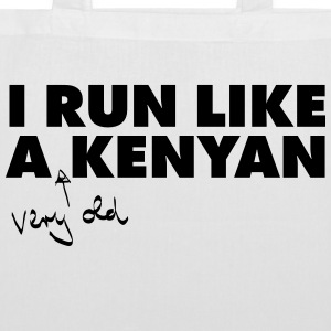 I Run Like A (Very Old) Kenyan Bags & Backpacks - Tote Bag