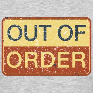 Hinweisschild out of order Big Bang Geek Lift game - Männer T-Shirt