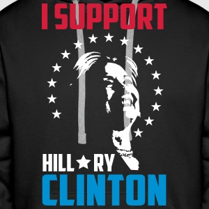 I support hillary clinton Pullover & Hoodies - Männer Premium Hoodie