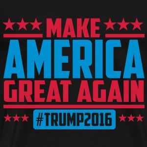 Make america great again trump 2016 T-shirts - Herre premium T-shirt