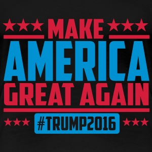 Make america great again trump 2016 T-Shirts - Frauen Premium T-Shirt