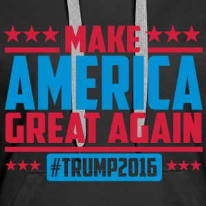 Make america great again trump 2016 Sweat-shirts - Sweat-shirt à capuche Premium pour femmes