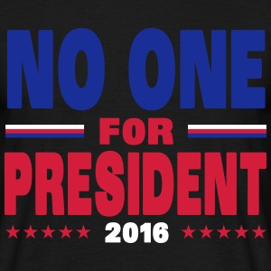 No one for president 2016 T-shirts - Herre-T-shirt