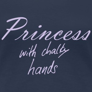 Princess with chalky hands T-Shirts - Women's Premium T-Shirt