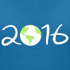 2016 earth day  Women's V-Neck T-Shirt