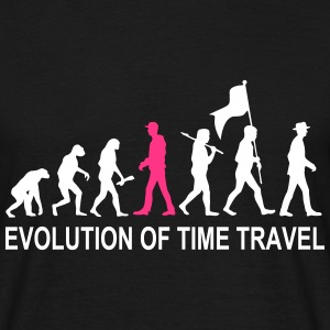 Evolution Time Travel 2C w. Text - Männer T-Shirt