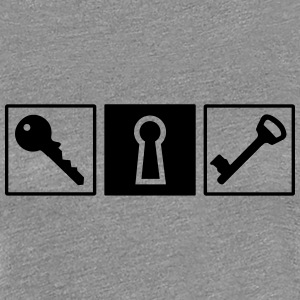 Key lock T-Shirts - Women's Premium T-Shirt