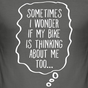 Thinking About My Bike Tee shirts - Tee shirt près du corps Homme