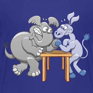 Arm Wrestling Donkey vs Elephant Shirts - Kids' Premium T-Shirt