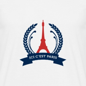 iciparis.png Tee shirts - T-shirt Homme