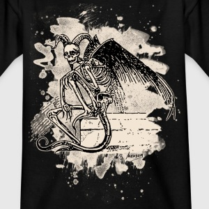 Sitting Demon – bleached white - Teenager T-Shirt